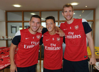 Arsenal and Football Made in Germany, Ozil, Per And Podolski