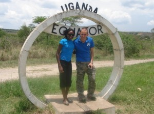At the Equator,in Kasese south west of Kampala