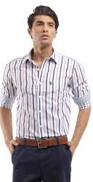 His shirt to polo