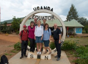 Photo moment at the Uganda Equator