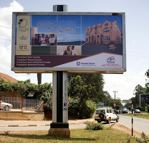 outdoor advertisement in Uganda